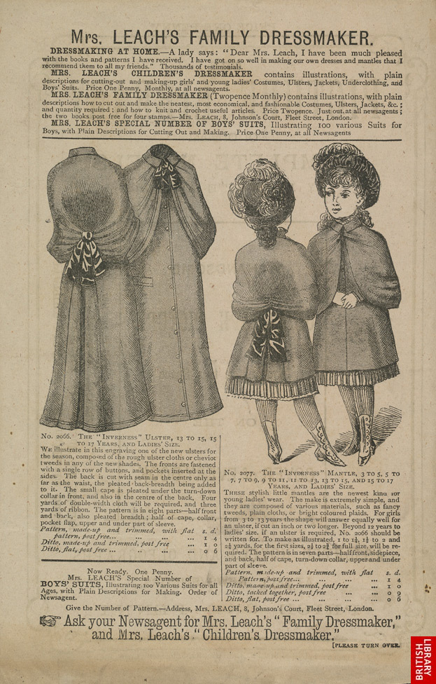 Advert for Mrs Leach's, dressmakers